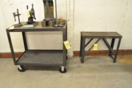 (1) Steel Cart and (1) Steel Stand