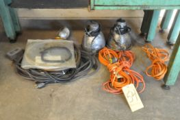 Lot, Extension Cords and Lights Under (1) Bench