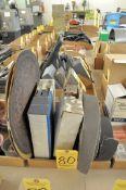 "Lot, Sanding Belts and 15"" Sanding Discs in (1) Box"