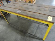 "Shop Table 30"" x 72"", Steel Base, Wood Top"