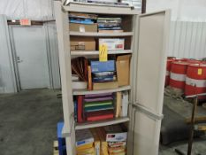 Upright Office Cabinet Full of Office Supplies