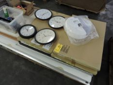 Pallet of White Boards and Clocks