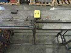 Steel Table with Mitutoyo Digital Caliper