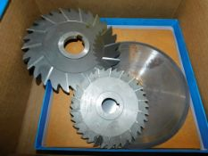 """Milling Cutters and (2) 8"""" Diameter Diamond Tipped Saw Blades"""