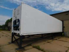 Carrier Transcold Thinline 40' Container/Freezer, Mounted on Steel Frame