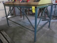 """Shop Table, Steel Frame with Wood Top, 48"""" X 72"""" X 43"""" High"""