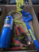 Barrel Opener, Bernzamatic Torch, and Jumper Cables