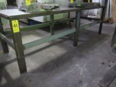 """Steel Shop Table, 36"""" X 108"""" X 34"""" High X 1/2"""" Thick Top"""