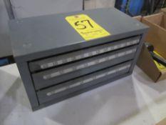 3-Drawer Drill Bit Cabinet, Empty