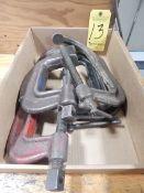 (5) Miscellaneous Heavy Duty C-Clamps