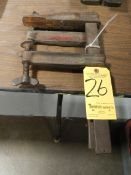"""12"""" Adjustable C-Clamps, 1 pair"""