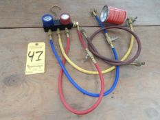 Refrigerant Test and Recharging Manifold