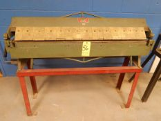 Connecticut U422 Box and Pan Brake, 4' X 22 Gauge, Complete Set of Fingers