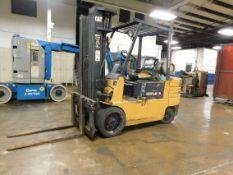 "Caterpillar Model GC60 Fork Lift, s/n 6EM0L396, 5,800 Lb. Capacity, Hard Tire, 3-Stage Mast, LP, 42"""