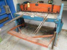 """Wysong & Miles Foot Shear, 52"""" X 16 Gauge, Manual Back Gage, (3) Sheet Supports"""