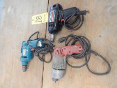 Lot, (3) Electric Drills