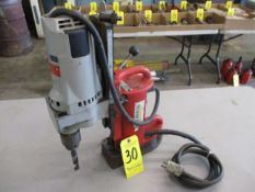 Milwaukee Magnetic Base Drill with Milwaukee 4262-1 Drill Motor