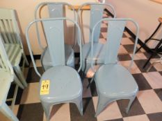 (4) Blue Metal Chairs