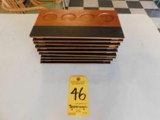 (9) Wine or Beer Tasting Trays with (4) Slots