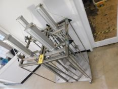Kleen-flo 4-Head Pneumatic Cheese Press with (4) Taskmaster Model R434002401 Pneumatic Heads