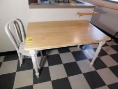 """Small Pine Table, 4' L x 30"""" Wx 29"""" H, Small Wood Chair"""