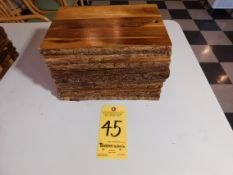 (9) Wooden Cheese Boards, Small
