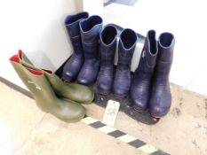 (3) Pairs of Tingley Rubber Non-Stick Boots, (1) Pair Dunlop Rubber Boots