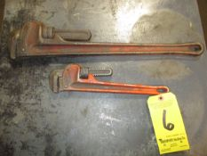 """(2) Pipe Wrenches, 14"""" & 24"""""""