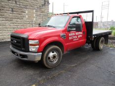 2008 Ford F350XL Super Duty Single Axle Stake Bed Truck, VIN 1FDWF36568EE13323, Regular Cab,