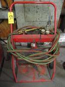 Oxy/Acct Cart w/Torch, Hose and Regulators