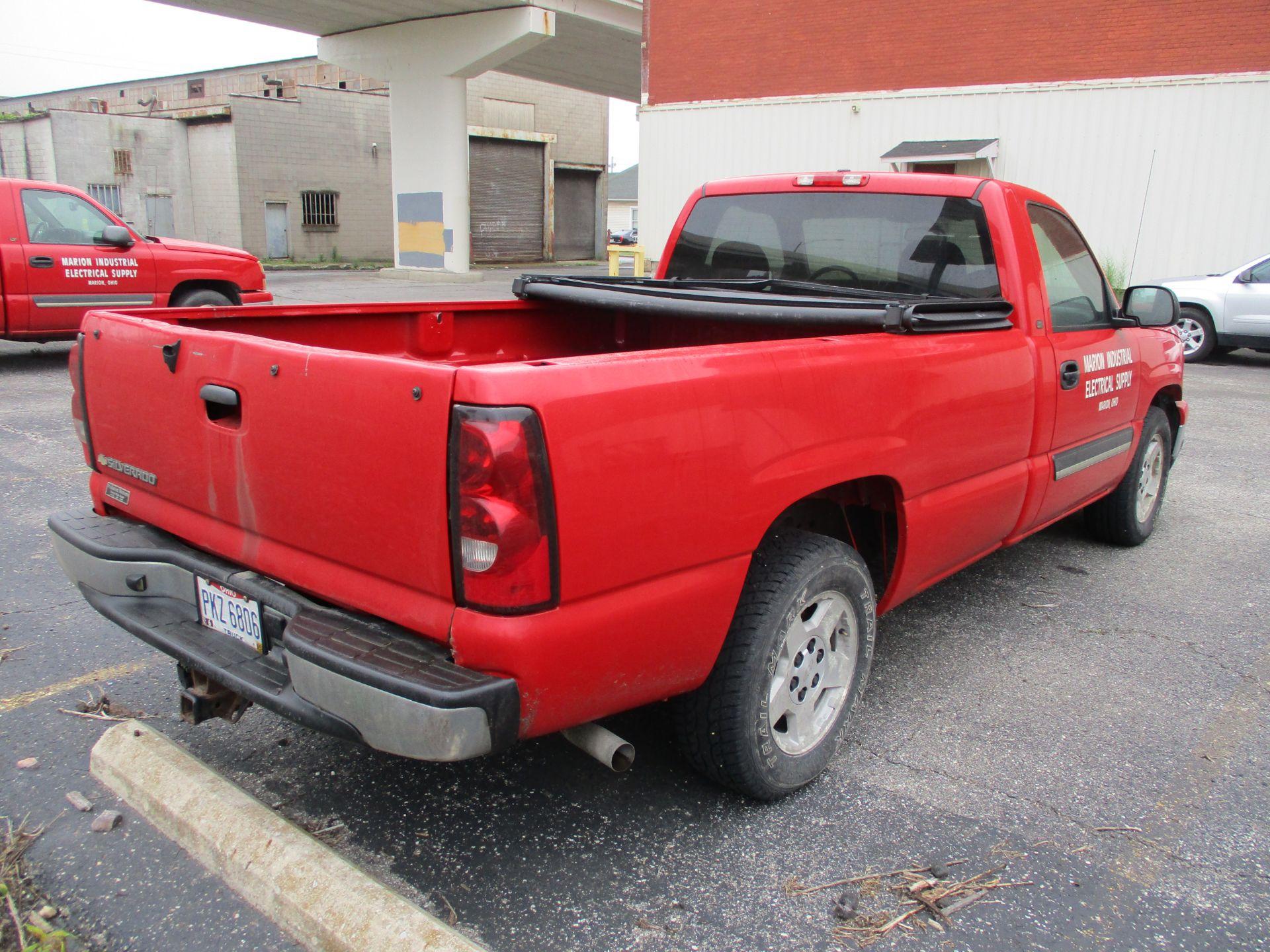 2006 Chevrolet Silverado 1500 LT Pickup, VIN 1GCEC14V96E251510, Regular Cab, Automatic, AC, 8' - Image 4 of 21