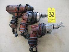 (3) Electric Drills