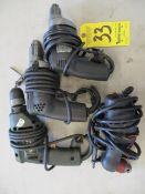 (4) Electric Drills