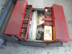 Toolbox with Miscellaneous Electrical Supplies