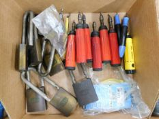 Padlocks and Deburring Tools