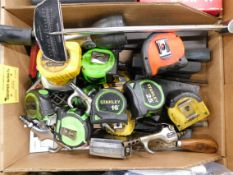 Flashlight, Tape Measures, Torque Wrenches