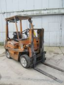 Toyota Model 02-2FDC25 Fork Lift, s/n 2FDC25-11970, 5,000 Lb. Capacity, Diesel, Hard Tire, 2-Stage