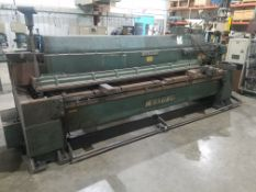"""Wysong Model 1025 Power Squaring Shear, s/n P37-377, 10' X 1/4"""", 10' Squaring Arm, 36"""" Front"""