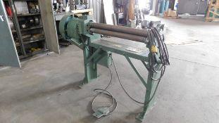 "Wysong Model 336-PR, 3' X 14 Gauge Power Rolls, s/n PR3-142, 3"" Roll Diameter"