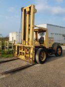 Hyster Yard Fork Lift, s/n B7P3454K, Estimated 18,000 Lb. Capacity, Diesel, Pneumatic Tires, Dual