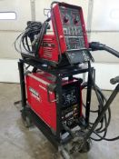 Lincoln Power Wave S350 Advanced Process Welder, s/n U1100301098, With Lincoln 10 Wire Feed, 208/