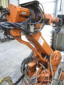 ABB Model IRB2400L CNC Robotic Welder, s/n 24-12670, New 1999, 6-Axis, (2) Miller Invision Mig Wel
