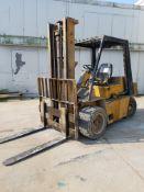 Caterpillar Model V80C Fork Lift, s/n 31S1696, 8,000 Lb. Capacity, Gas, Pneumatic Tires, 2-State