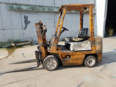 Toyota Model 02-2FDC25 Fork Lift, s/n 2FDC25-12747, 5,000 Lb. Capacity, Diesel, Hard Tire, 2-Stage