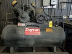 Dayton Model 5F-233A Air Compressor, 10 HP, 2-Stage, Tank Mounted, 230/460/3