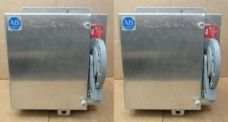 Allen Bradley 30 Amp Disconnect 1494F-CNP30-988 600 Volts Series A Type 4 4X Stainless Steel