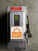Square D HU361DSEI Heavy Duty Safety Switch 30 Amp 600VAC STAINLESS STEEL Series E1