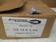 Fastener Technology 1/2-13 X 1-1/4 Grade 5 Corrosion Resistance Carriage Bolts *Box of 450