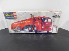 Revell White Gas Truck Model, 1420