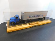 First Gear Truck and Trailer Encased Toy (Some Damage)